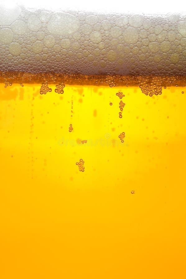 Sluit omhoog van bierbellen stock foto