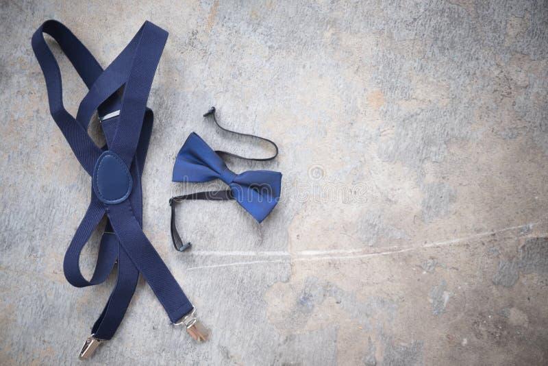 Sluit omhoog van blauwe vlinderdas royalty-vrije stock afbeelding