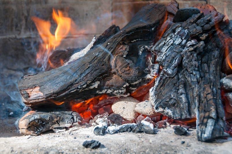 Sluit omhoog van brandhout stock afbeelding