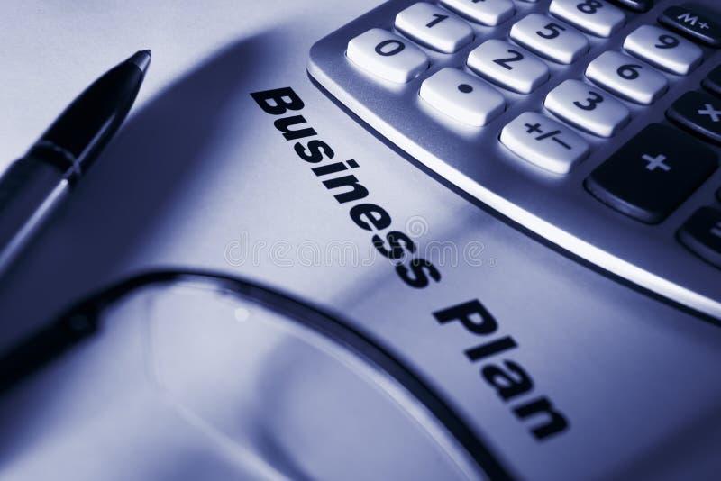 Sluit omhoog van businessplan stock afbeeldingen