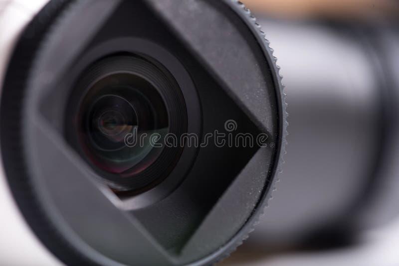 Sluit omhoog van cameralenzen royalty-vrije stock afbeelding