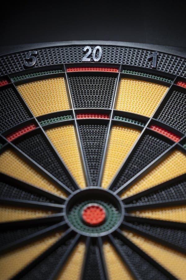 Sluit omhoog van dartboard stock fotografie