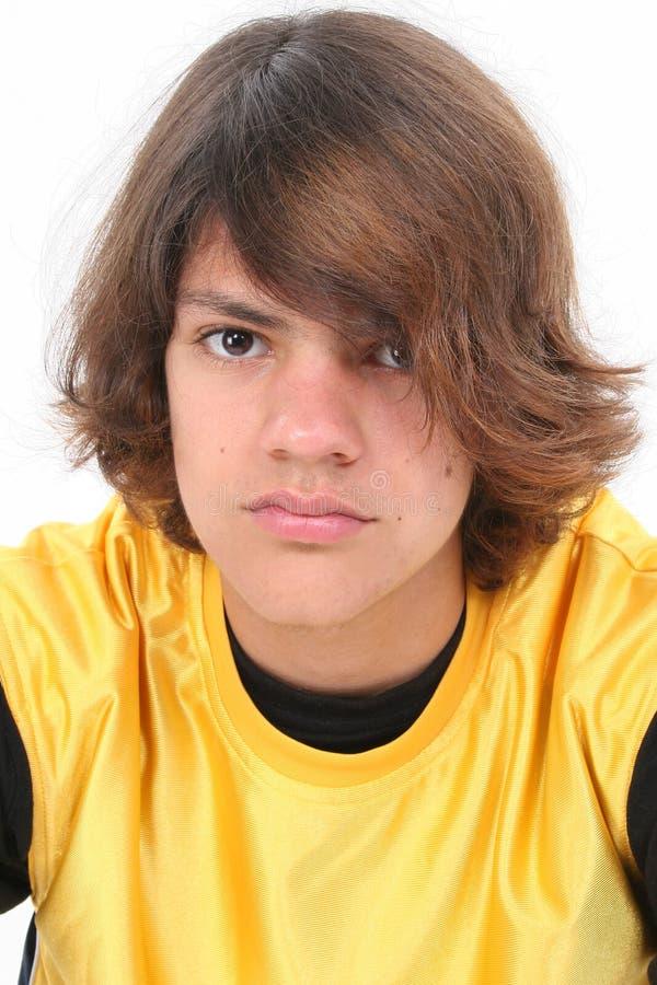 Sluit omhoog van de Jongen van de Tiener stock fotografie
