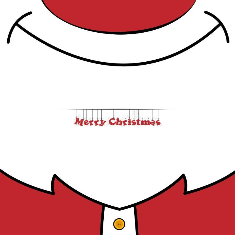 Sluit omhoog van de Kerstman royalty-vrije illustratie