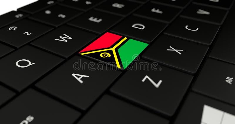 Sluit omhoog van de knoop van Vanuatu vector illustratie