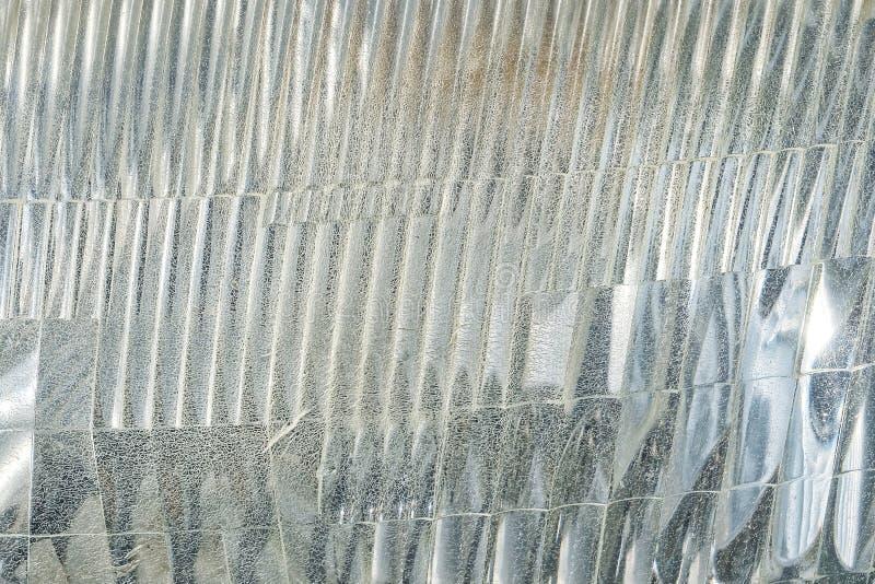 Sluit omhoog van de Oude Geweven Achtergrond van de Autokoplamp royalty-vrije stock fotografie