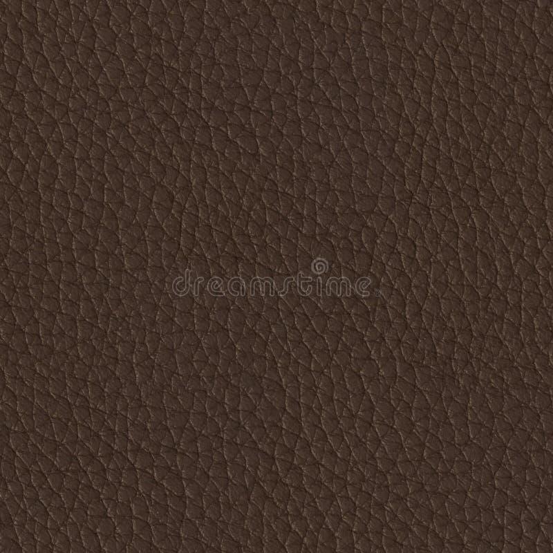 Sluit omhoog van een bruine leertextuur Naadloze vierkante achtergrond, royalty-vrije stock afbeelding