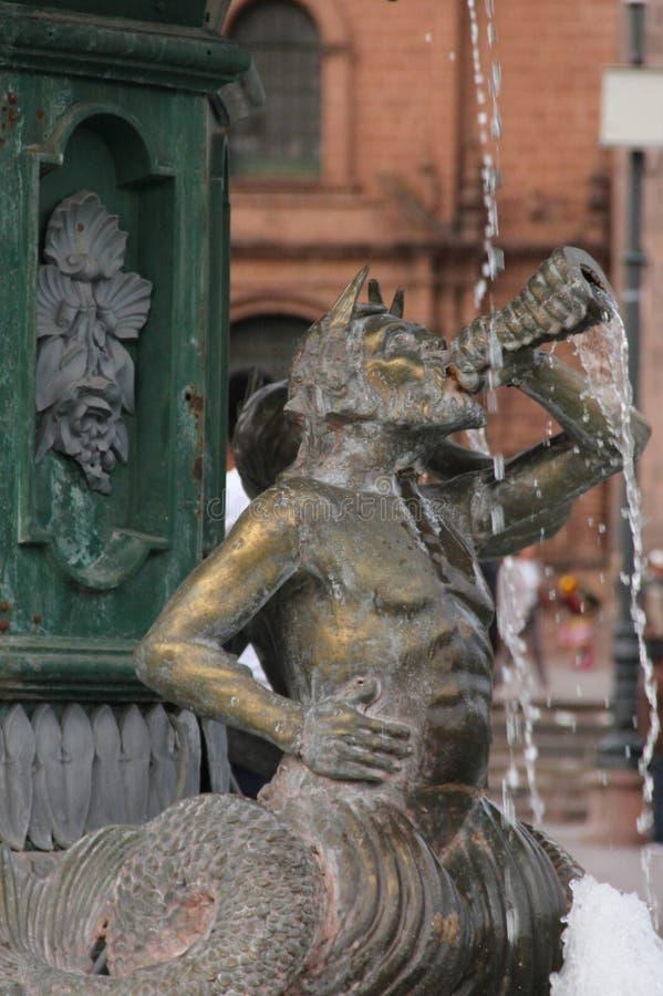 Sluit omhoog van een deel van de Fontein stock fotografie