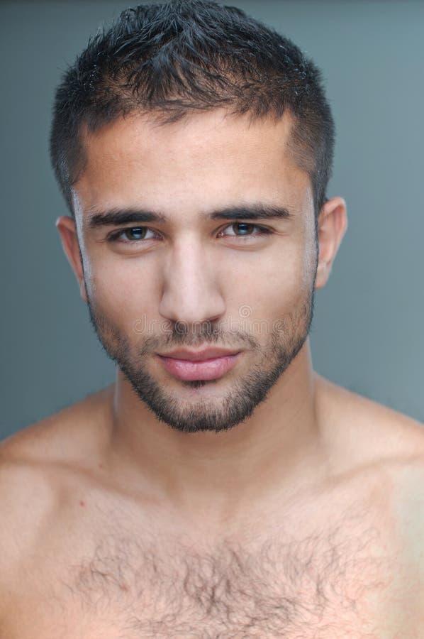 Sluit omhoog van een mannelijk model stock foto