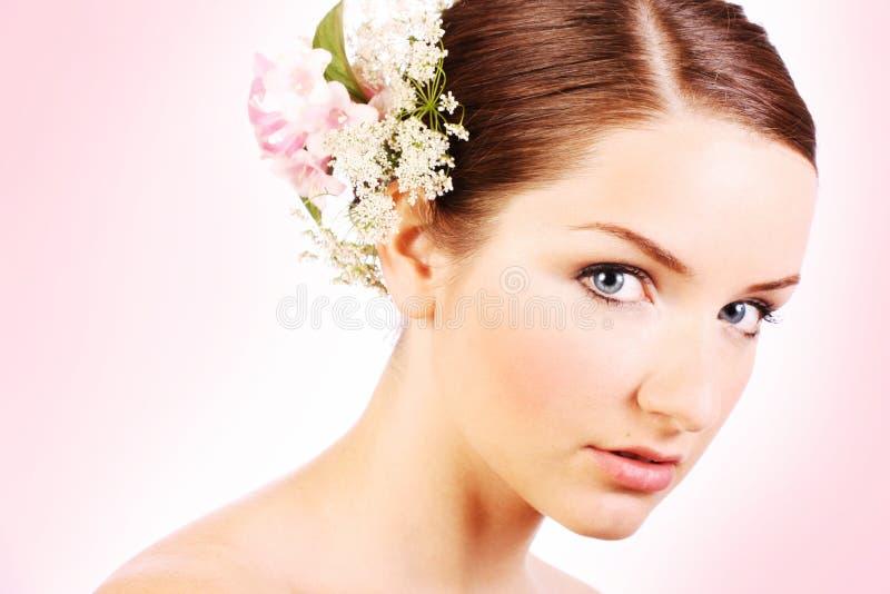 Sluit omhoog van een mooie bruid royalty-vrije stock foto