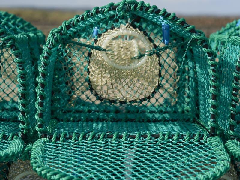Sluit omhoog van een Nieuwe Zeekreeftpot stock foto's