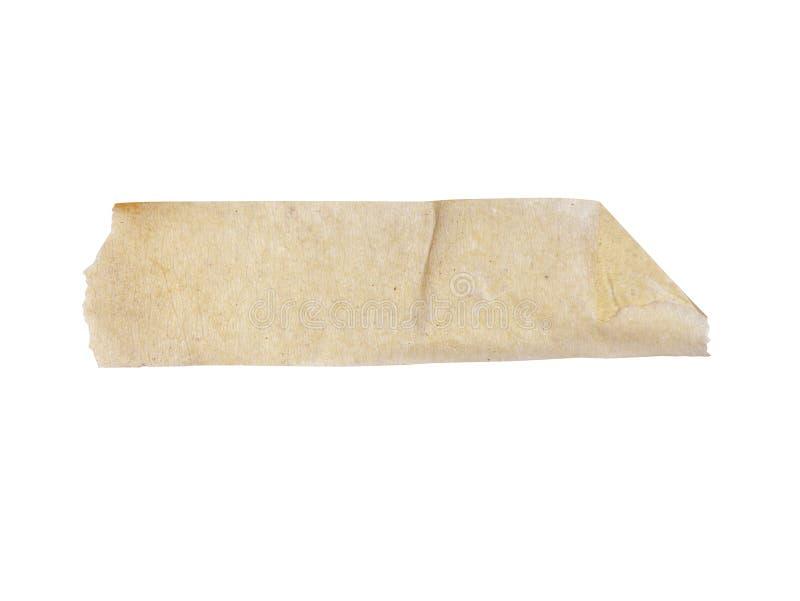 Sluit omhoog van een plakband op witte het Knippen Inbegrepen Wegen stock foto