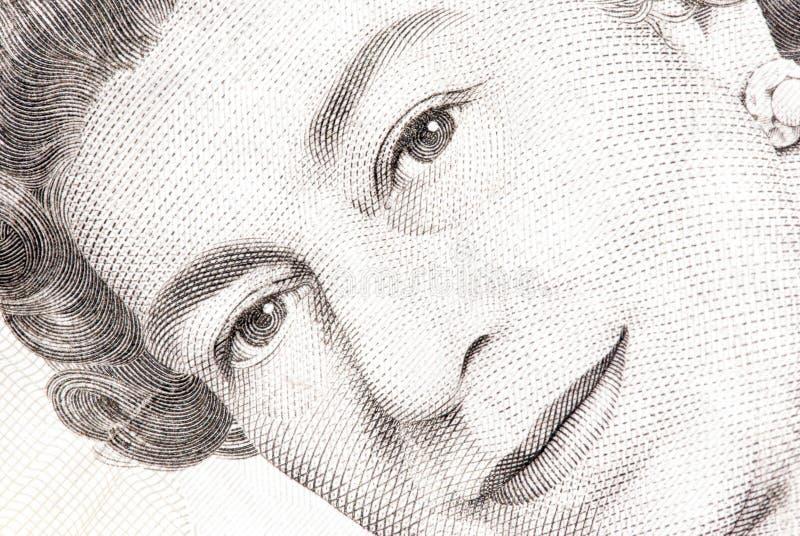 Sluit omhoog van een vijf pondnota royalty-vrije stock afbeelding