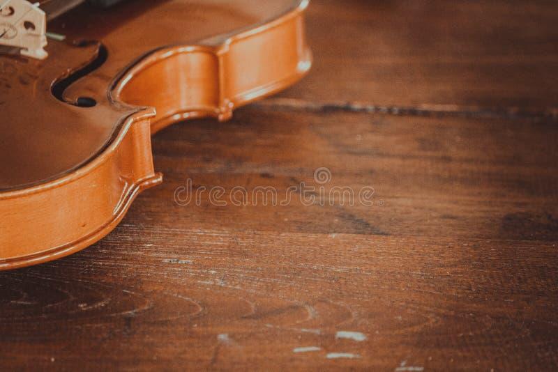 Sluit omhoog van een viool diep ondiep van gebied met exemplaarruimte royalty-vrije stock foto's