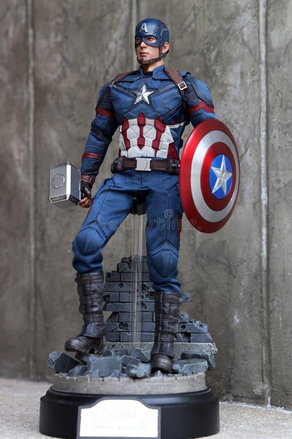 Sluit omhoog van het cijferactie van Kapiteinsamerica civil war superheros royalty-vrije stock fotografie