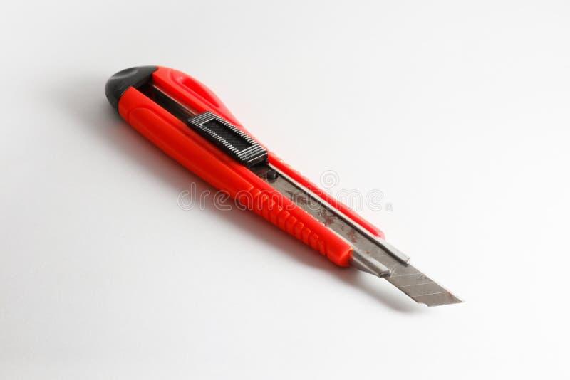 Sluit omhoog van het mes van de roestsnijder stock foto