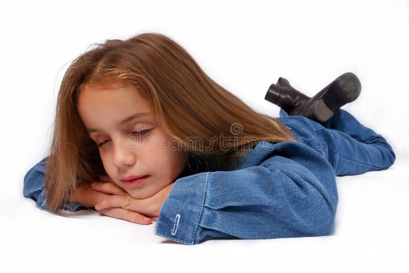 Sluit omhoog van jong meisje stock afbeelding