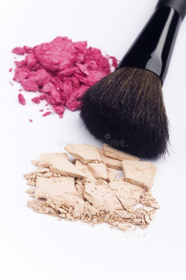 Sluit omhoog van kosmetische producten stock fotografie