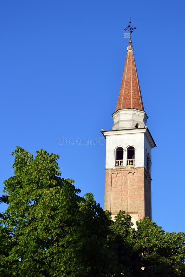 Sluit omhoog van Mogliano Veneto chruch stock afbeeldingen