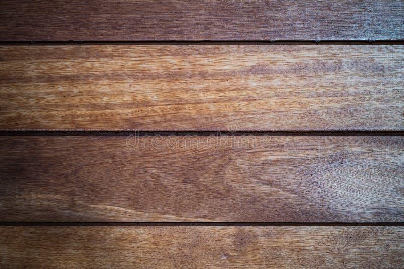 Sluit omhoog van muur van houten planken wordt gemaakt die stock afbeelding