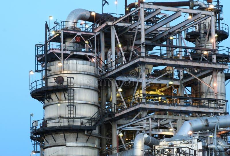 Sluit omhoog van olieraffinaderij royalty-vrije stock foto