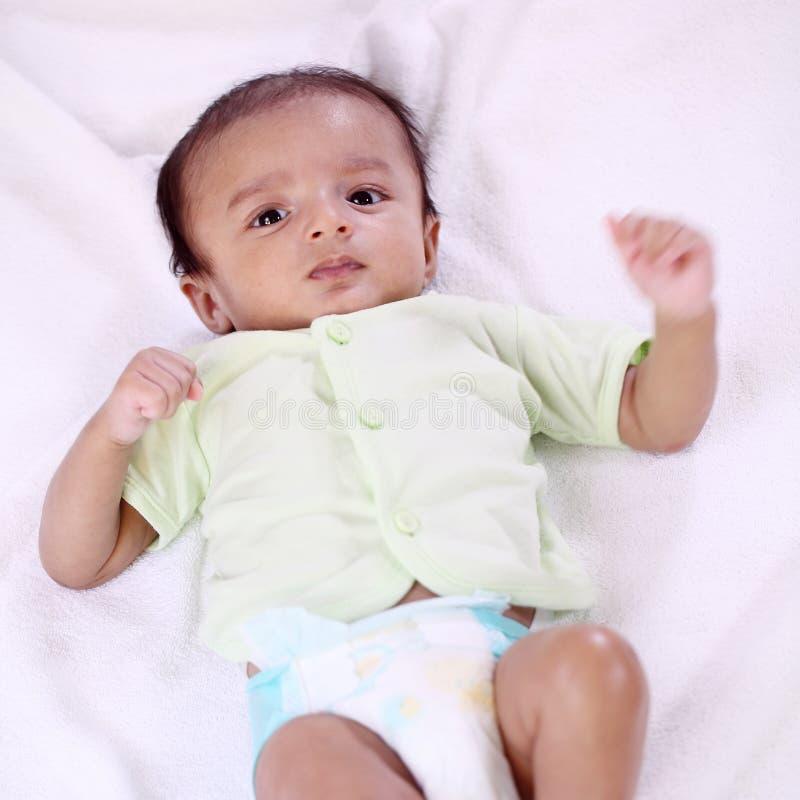 Sluit omhoog van Pasgeboren Baby stock foto's