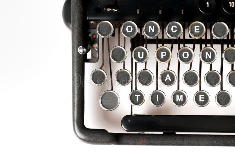 Sluit omhoog van retro stijlschrijfmachine, eens stock afbeeldingen