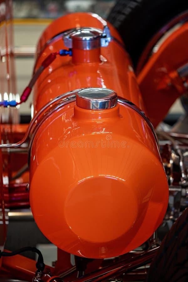 Sluit omhoog van Roodgloeiend Rod Fuel Tank royalty-vrije stock afbeelding