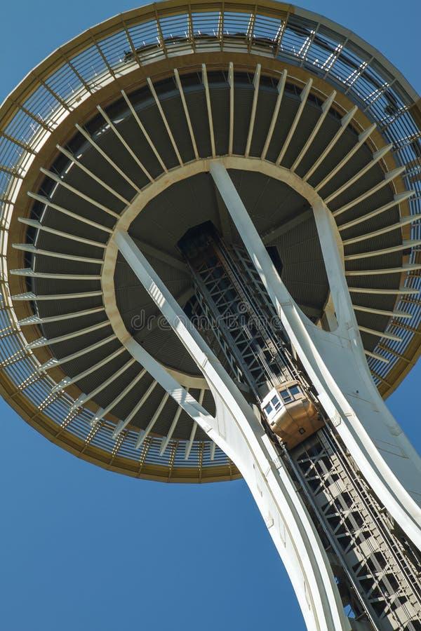 Sluit omhoog van Ruimtenaald in Seattle stock foto's
