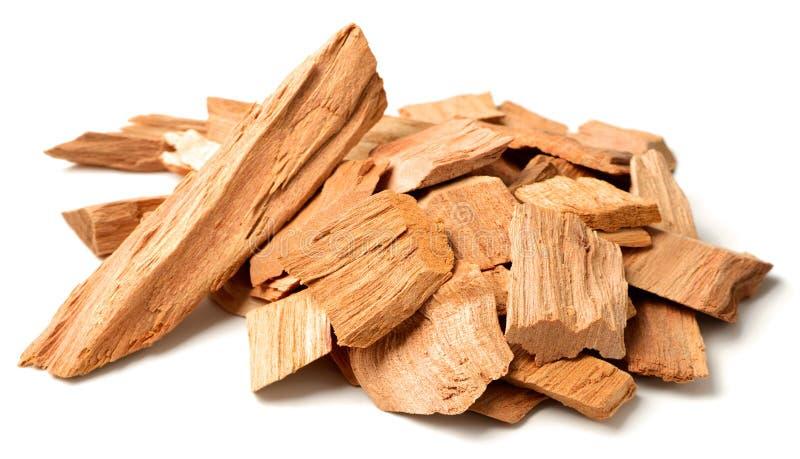 Sluit omhoog van sandelhout isolatd op de witte achtergrond stock afbeelding