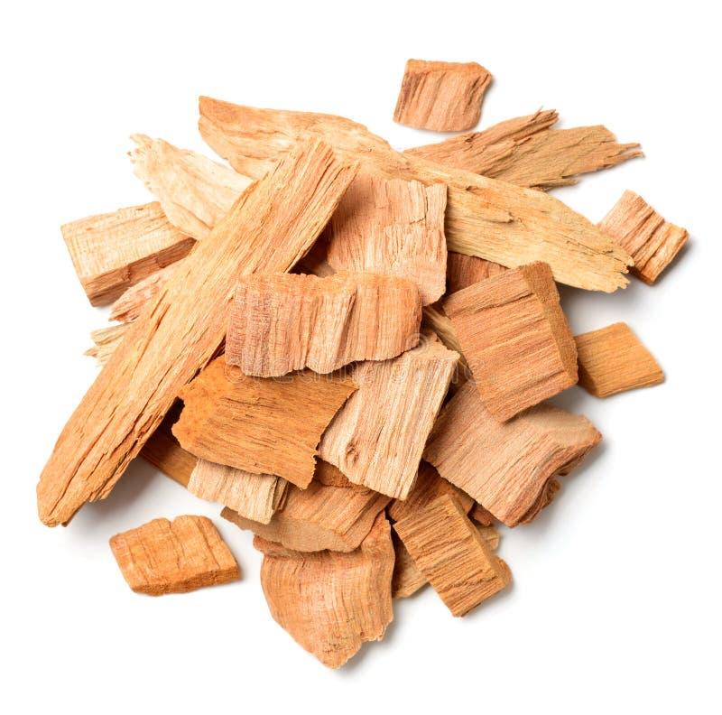 Sluit omhoog van sandelhout isolatd op de witte achtergrond stock foto