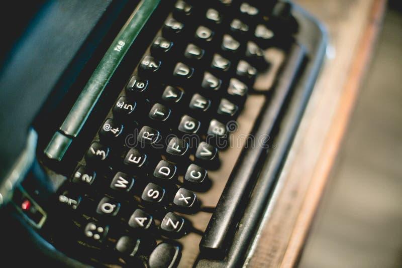 Sluit omhoog van schrijfmachinewijnoogst royalty-vrije stock fotografie