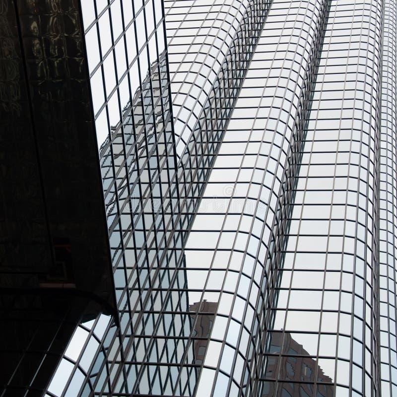 Sluit omhoog van Uitwisselingsplaats - de moderne wolkenkrabber van Boston stock afbeelding