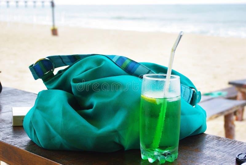 Sluit omhoog van verse de zomerdrank, munt met sodawater, ijs royalty-vrije stock foto