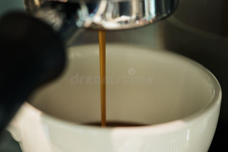 Sluit omhoog van verse Koffie royalty-vrije stock afbeelding