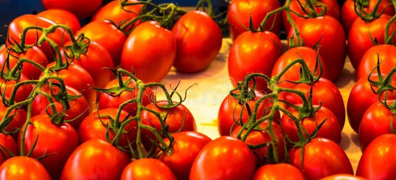 Download Sluit Omhoog Van Verse Organische Tomaten Bij Openluchtmarkt Stock Foto - Afbeelding bestaande uit rood, gezond: 114228144