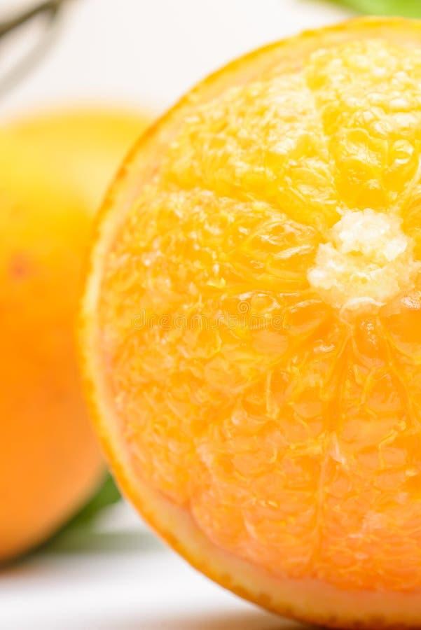 Sluit omhoog van verse sinaasappel royalty-vrije stock afbeelding