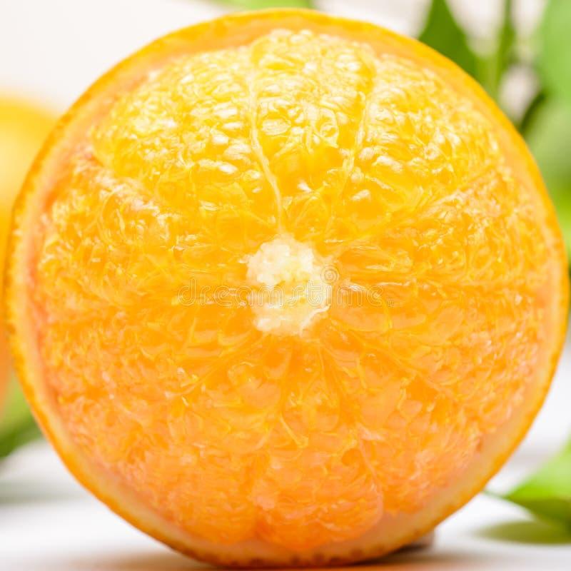 Sluit omhoog van verse sinaasappel royalty-vrije stock fotografie