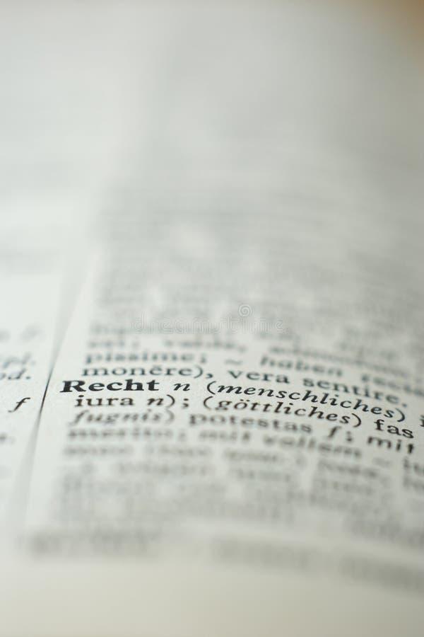 Sluit omhoog van woordenboekpagina royalty-vrije stock foto