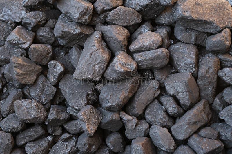 Sluit omhoog van zwarte steenkool royalty-vrije stock afbeeldingen