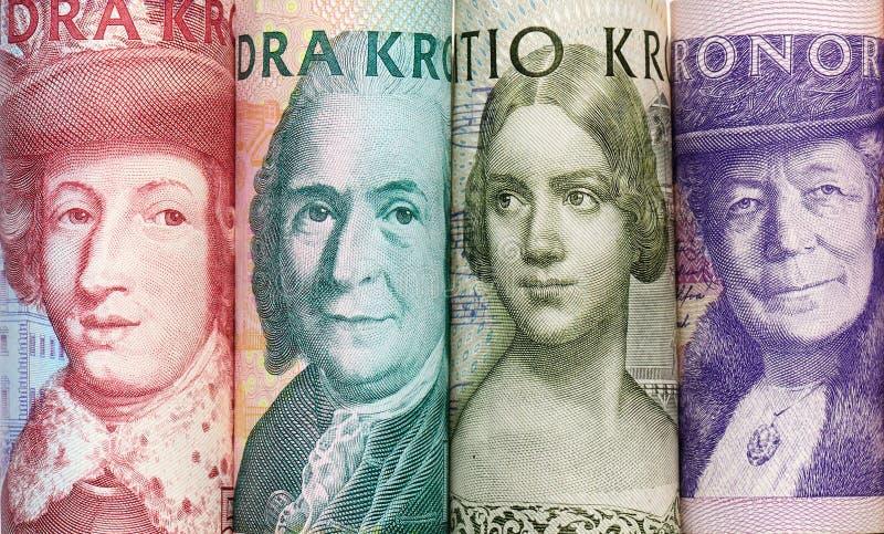 Een reeks van Zweeds bankbiljet royalty-vrije stock afbeeldingen