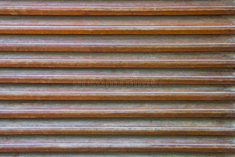 Sluit omhoog, vergelijk houten latjestextuur als element van decorbinnenland en ventilatie royalty-vrije stock afbeeldingen