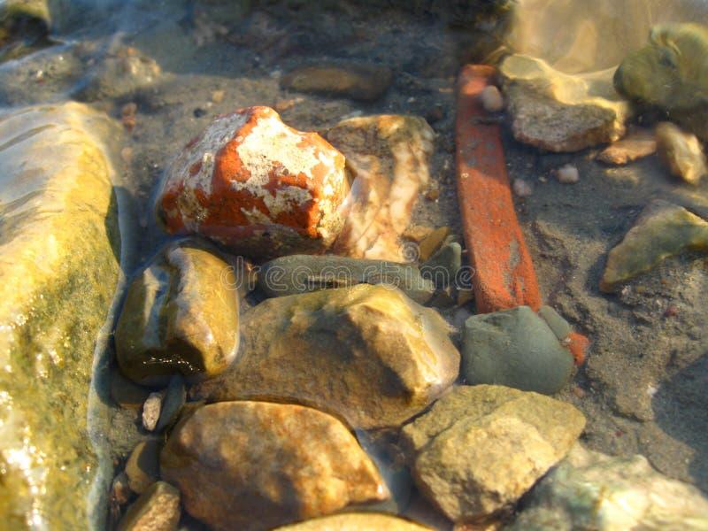 Sluit omhoog voor gekleurde rotsen royalty-vrije stock foto's