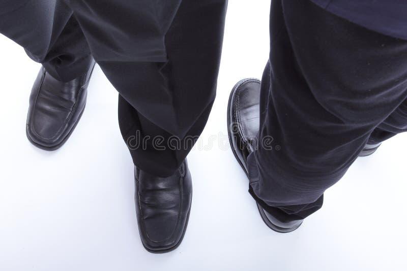 Sluit omhoog zakenmanschoen stock afbeeldingen