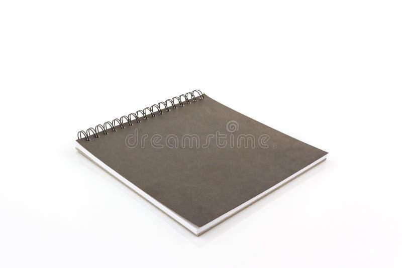 Sluit omhoog zwart schetsboek stock afbeelding