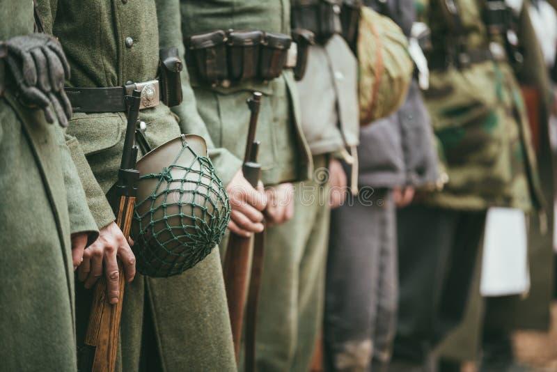 Sluit van Duitse Militaire Munitie van omhoog Duitse Militairen uni royalty-vrije stock foto's
