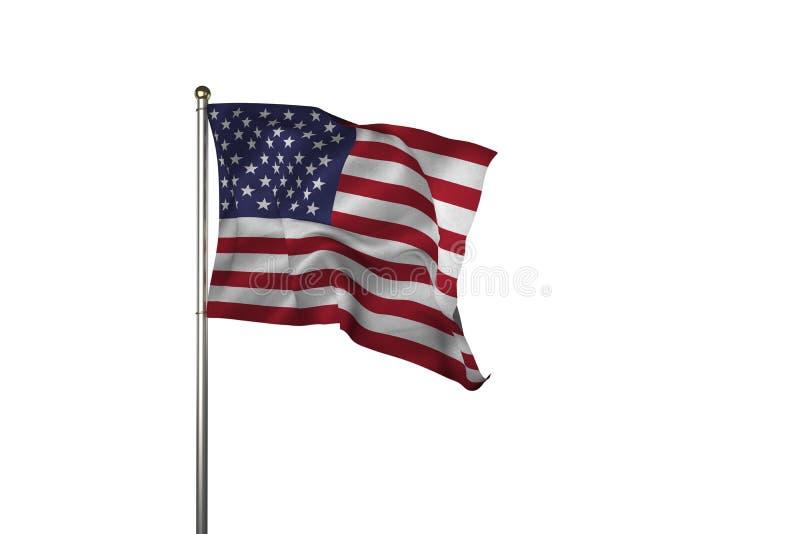 Sluit van ons omhoog vlag royalty-vrije illustratie