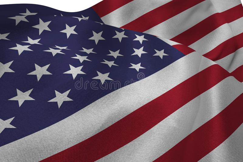 Sluit van ons omhoog vlag vector illustratie