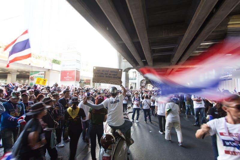 SLUITING BANGKOK - JANUARI 13 2014 royalty-vrije stock foto