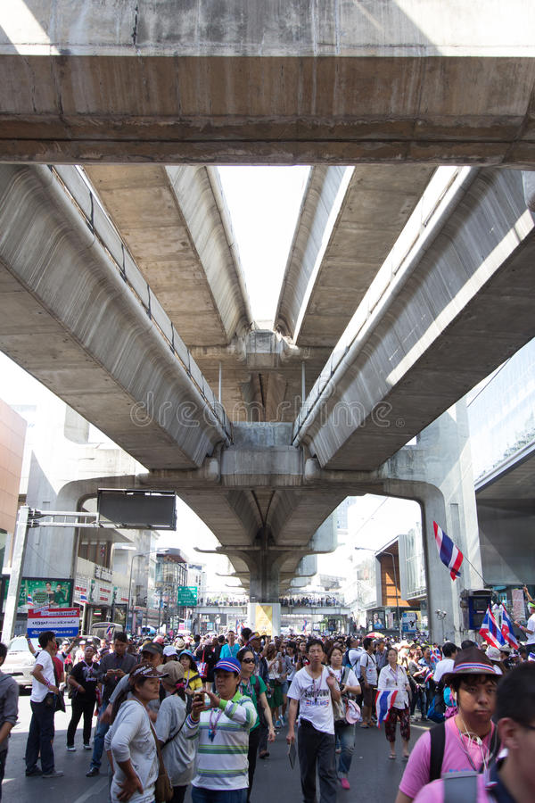 SLUITING BANGKOK - JANUARI 13 2014 royalty-vrije stock foto's